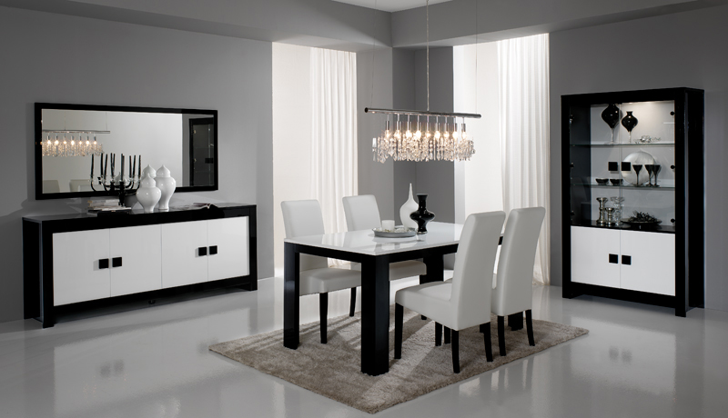 salle manger noir et blanc ikea. Black Bedroom Furniture Sets. Home Design Ideas